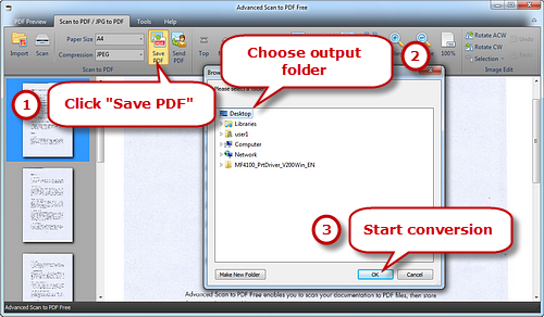 Convert and Save the JPG Images to PDF