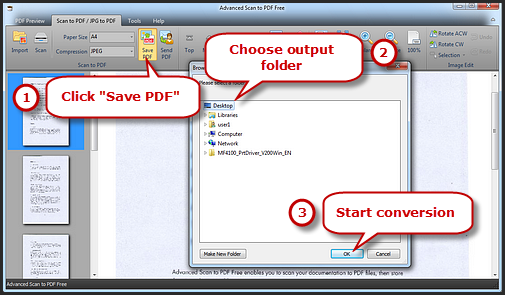 Configure the output settings and save